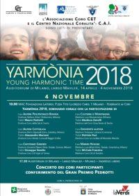 Yarmonia 2018 – Seminario corale